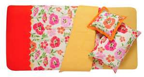 Bedding. Isolated Stock Photo