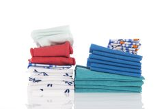 Bedding and linen Stock Photo