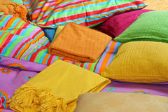 Bedding and pillows Stock Photos