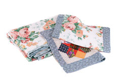 Bedding set with flowers. Royalty Free Stock Photography