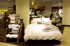Bedding sets and home decor department store Stock Photo