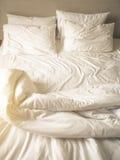 Bedding Sheet Pillows and Blanket Top view stock photos