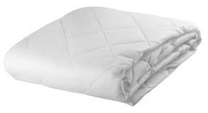 Bedding sheet in white colour Stock Photo