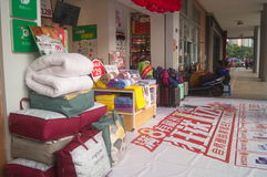 Bedding shop. Ping malls, display of quilts and other goods. In Shenzhen, china Stock Images