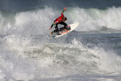 Bede Durbidge. World surfing circuit in Portugal Royalty Free Stock Photos