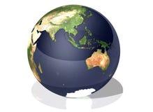 Bedecken Sie Asien mit Erde Stockbild