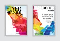 Bedecken Sie Broschürenflieger-Zeitschriftenplakat in der Größe A4 Stockfotografie