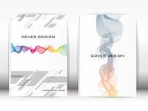 Bedecken Sie bunte grafische schwarze Streifen der Design-Schablonen-Veröffentlichung Lizenzfreies Stockfoto