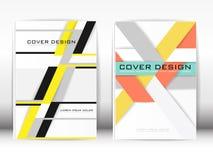 Bedecken Sie Design-Schablonen-Veröffentlichungs-Polygongraphiken und weißes BAC Lizenzfreie Stockfotos
