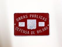 Bedecken Sie für Fahrzeug von Arbeiten und Verteidigung von Bilbao Spanischer Bürgerkrieg 2 Lizenzfreies Stockfoto