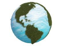 Bedecken Sie grünes Gras Amerika Kanada Südnord3d CG mit Erde stock abbildung
