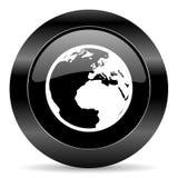 Bedecken Sie Ikone mit Erde Lizenzfreie Stockfotos