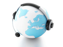 BEDECKEN SIE KUGEL MIT ERDE Konzept der globalen Kommunikation Lizenzfreies Stockfoto