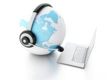 BEDECKEN SIE KUGEL MIT ERDE Konzept der globalen Kommunikation Stockfotos