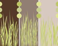 Bedecken Sie Panelhintergrund mit Gras Lizenzfreie Stockfotos
