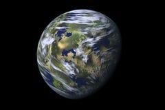 Bedecken Sie Planeten, II mit Erde lizenzfreie abbildung