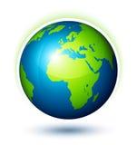 Bedecken Sie Planeten mit Erde Stockbilder