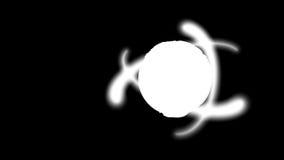 Bedecken Sie Planeten und Atome, Schleife, Alpha enthaltene, Gesamtlänge auf Lager mit Erde stock abbildung