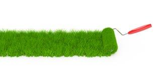 Bedecken Sie Rolle mit Gras Stockbilder