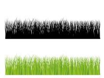Bedecken Sie Schattenbild in der Farbe und im Schwarzen mit Gras vektor abbildung