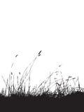 Bedecken Sie Schattenbildschwarzes mit Gras vektor abbildung
