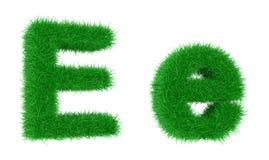 Bedecken Sie Schrifttyp mit Gras Stockfoto