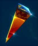 Bedecken Sie Struktur, Abteilung in Schichten, die Erde-` s Kruste und Kern mit Erde lizenzfreie abbildung