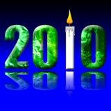 Bedecken Sie Stunde 2010 mit Erde Stockfoto