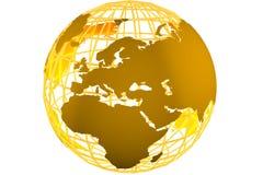 Bedecken Sie Symbol mit Erde Stockfotos