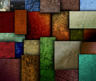 Bedecken Sie Ton-Beschaffenheits-Quadrat-Muster mit Erde Stockbild