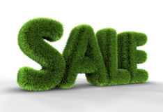 Bedecken Sie Verkaufs-Marke mit Gras lizenzfreie abbildung