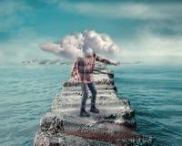 bedeckt durch Wolke Lizenzfreie Stockbilder