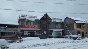 Bedeckt mit Bestimmungsortwinter Schönheit Schneeasiens schönem Pakistan hypnotisierendem reisendem Lizenzfreie Stockfotografie