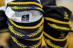 Bedeckt Seeleute mit einer Kappe Stockbild