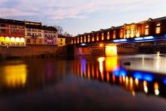 Bedeckte Holzbrücke, Stadt von Lovech, Bulgarien lizenzfreies stockfoto
