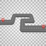 Bedekte weg op de weg, weg op een transparante achtergrond, Vectorillustratie vector illustratie
