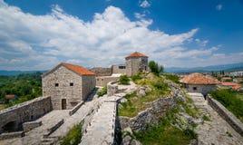 Bedem średniowieczny forteca w Montenegro obrazy royalty free