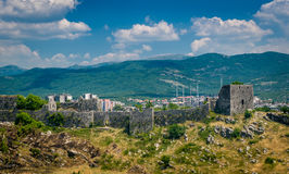 Bedem antyczny forteca w Montenegro fotografia royalty free