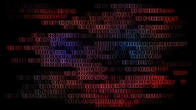Bedeutender Cyberangriff, der Computer schlägt Lizenzfreies Stockfoto