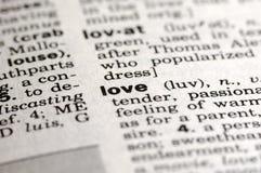 Bedeutung der Liebe Stockbild