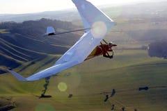 Bedeutungssegelflugzeug Stockfoto