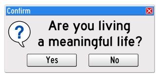 Bedeutungsvolles Leben lizenzfreie abbildung