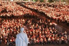 Bedevaart aan Lourdes royalty-vrije stock fotografie
