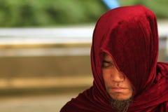 Bedevaart van Boeddhisme in Bagan royalty-vrije stock afbeelding