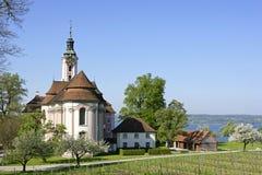 Bedevaartkerk Birnau op het Meer van Konstanz Stock Foto's