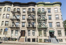 Bedford Avenue Aparment Building. A large apartment buildings on  Bedford Avenue in the Crown Heights Neighborhood of Brooklyn, New York Royalty Free Stock Photo