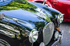 Bedford, Bedfordshire, Regno Unito 2 giugno 2019 Frammento di Austin A30, una piccola automobile di famiglia prodotta da Austin d fotografie stock