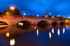 Bedford Bridge a Bedford, Inghilterra Immagine Stock Libera da Diritti