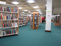 Bedford central library. The central library in Bedford, England,UK. A very busy library with facilities to borrow books and also to use the many reference Stock Image