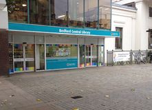 Bedford central Library entrance. Royalty Free Stock Images